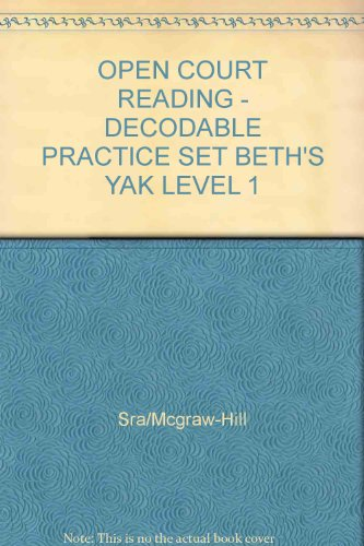 9780075694953: Beth's Yak: Decodable Practice Set Level 1 (Open Court Reading)