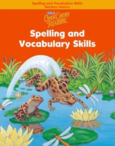 9780075710981: Open Court Reading - Spelling and Vocabulary Skills Blackline Masters - Grade 1