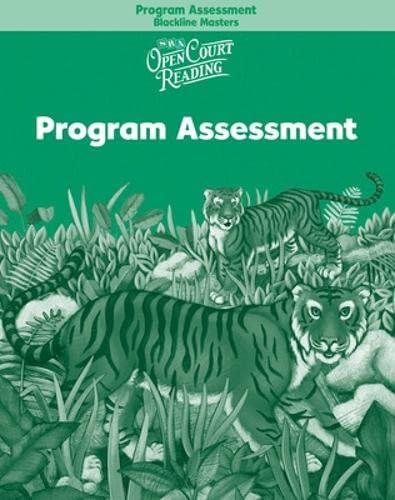 9780075712343: Open Court Reading - Program Assessment Blackline Masters - Grade 2