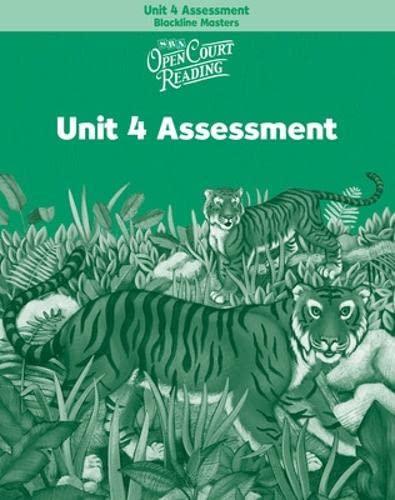 9780075714194: Open Court Reading: Unit 4 Assessment Blackline Masters Level 2