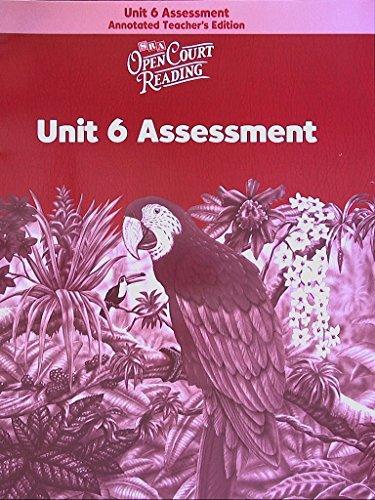 9780075716358: SRA Open Court Reading: Unit 6 Assessment, Level 6, Annotated Teacher's Edition