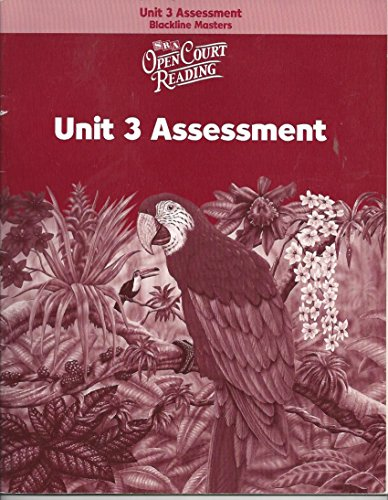 Open Court Reading: Unit 3 Assessment Blackline Masters Level 6: WrightGroup/McGraw-Hill