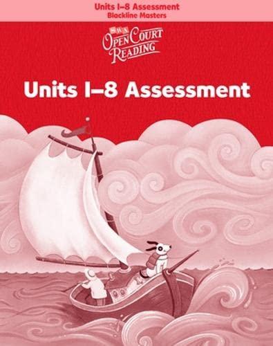 9780075716778: Open Court Reading - Unit Assessment Blackline Masters - Units 1-8 - Grade K: Assessment Blackline Masters (Units 1-8), Teacher Materials, Grade K