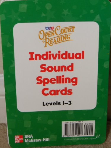9780075719427: Open Court Reading 2002 Sound/Spelling Individual Cards - Levels 1-3, Additional Resources, Grade 3