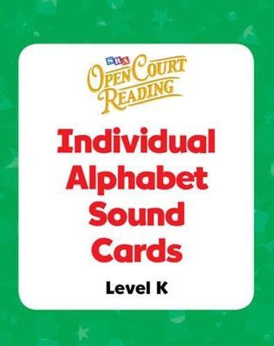 9780075719458: Open Court Reading - Alphabet Sound Individual Cards - Grade K: Alphabet Sound Individual Cards, Additional Resources, Grade K