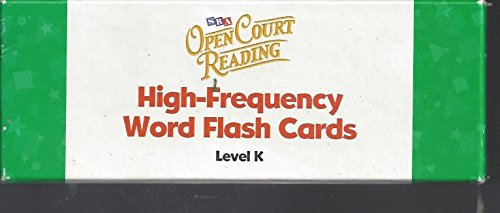 9780075719489: Open Court Reading: High Frequency Word Flash Cards Level K