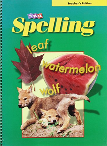 9780075722953: SRA Spelling: Teacher's Edition - Grade 4