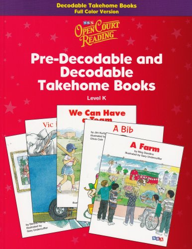 9780075723035: Open Court Reading Pre-Decodable and Decodable Takehome Books Level K