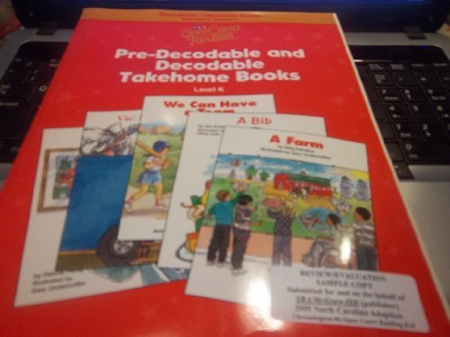 9780075723042: Open Court Reading - Decodable Takehome Blackline Master Books (1 Workbook of 35 Stories) - Grade K