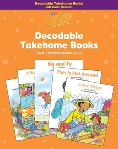 9780075723080: Open Court Reading, Practice Decodable Takehome Books (Books 49-97) 4-color (1 workbook of 49 stories), Grade 1: Level 1: Practice Books 49-97 (IMAGINE IT)