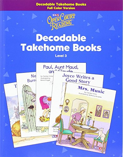 9780075723882: Open Court Reading - Decodable Takehome Books - 1 Color Workbook of 35 Stories - Grade 3