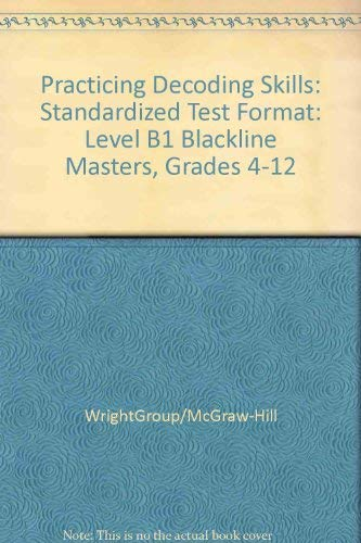 9780075727828: Practicing Decoding Skills: Standardized Test Format: Level B1 Blackline Masters, Grades 4-12
