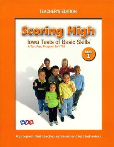9780075728221: Scoring High on ITBS: Teacher Edition Grade 1