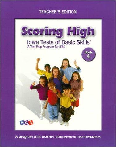 9780075728252: Scoring High on Itbs: Teacher Edition Grade 4