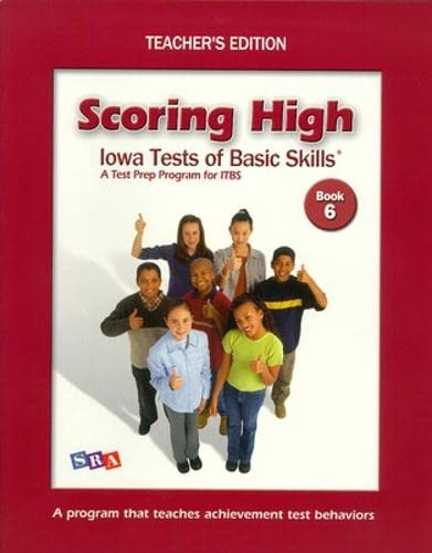 9780075728276: Scoring High on Itbs: Teacher Edition Grade 6