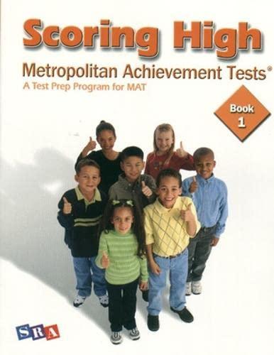 9780075728306: Scoring High on the MAT 8 - Student Edition - Grade 1