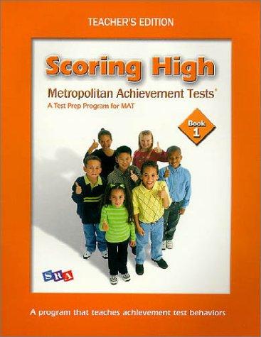 9780075728382: Scoring High on Itbs: Teacher Edition Grade 1
