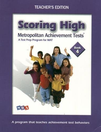 9780075760795: Scoring High on the MAT, Grade 4, Teacher Edition