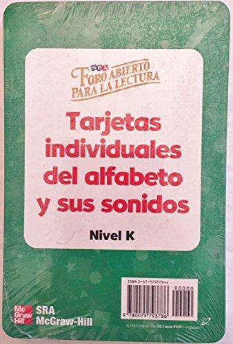 9780075793786: Foro Abierto Para La Lectura: Tarjetas individuales del alfabeto y sus sonidos, Nievel K (Spanish Edition)