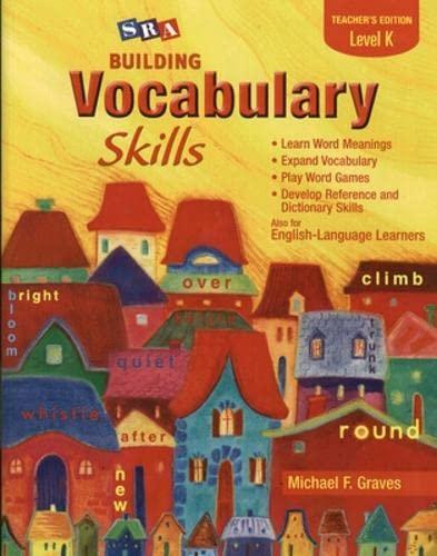 9780075796213: Building Vocabulary Skills A - Student Edition - Level K