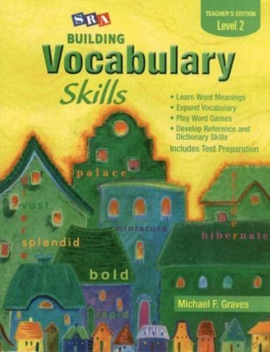 Building Vocabulary Skills, Teacher's Edition, Level 2 (SRA BUILDING VOCABULARY SKILLS) (9780075796237) by Michael Graves