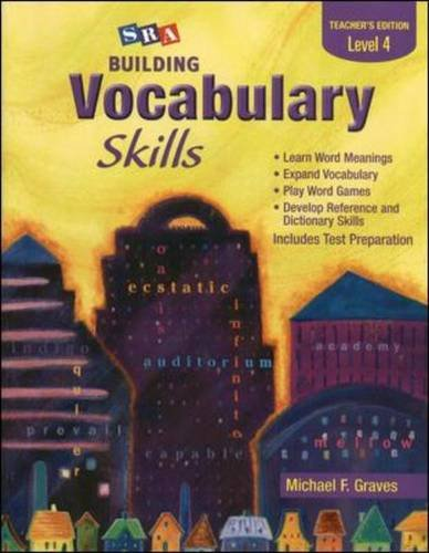 Building Vocabulary Skills A - Teacher's Edition - Level 4 (0075796252) by Michael Graves
