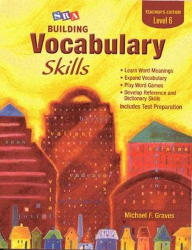 9780075796275: SRA Building Vocabulary Skills Teacher's Edition Level 6