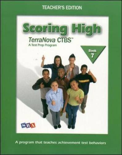 9780075840688: Scoring High on the TerraNova CTBS - Teacher's Edition with Poster - Grade 7