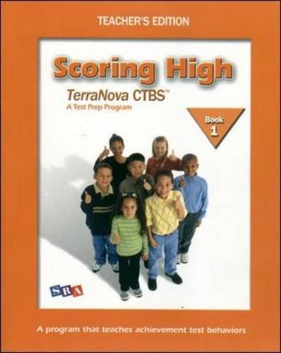 9780075840787: Scoring High on Terra Nova: Teacher Edition Grade 1