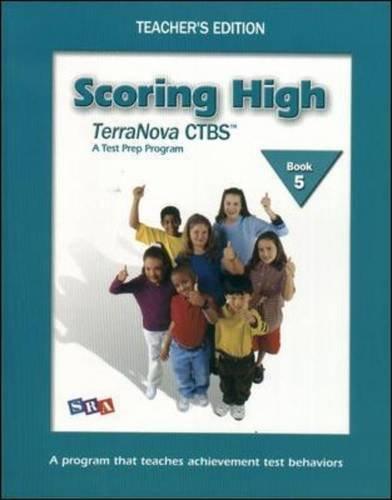 9780075840824: Scoring High on Terra Nova: Teacher Edition Grade 5