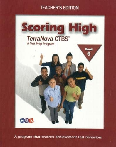 9780075840831: Scoring High on Terra Nova: Teacher Edition Grade 6