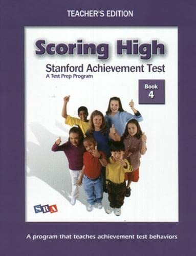 9780075840893: Scoring High on the SAT/10: Grade 4