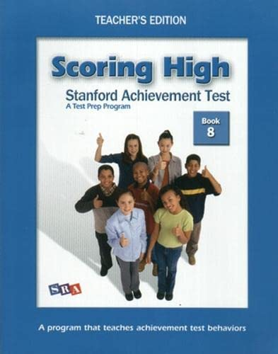 9780075840930: Scoring High: Stanford Achievement Test, Grade 8 (Teacher's Edition and Poster Package)