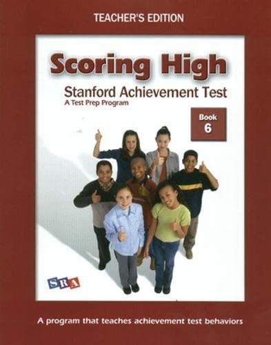 9780075841074: Scoring High Standford Achievement Test: Teacher's Edition, Book 6