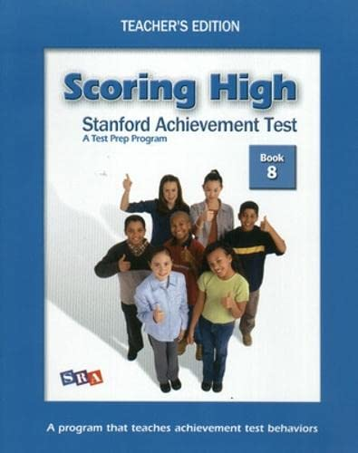 9780075841098: Scoring High on SAT: Teacher Edition Grade 8