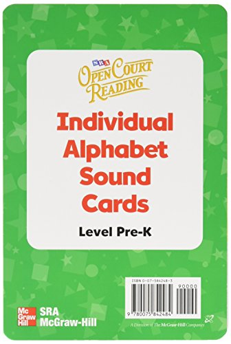 9780075842484: Open Court Reading Pre-K: Individual Alphabet Sound Cards