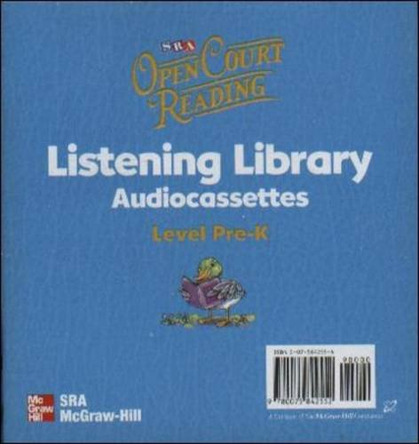 9780075842552: Open Court Reading, Listening Library Audiocassettes, Grade PreK (OPEN COURT READING PRE-K)