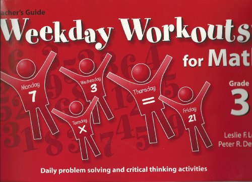 9780076002429: Weekday Workouts for Math: Teacher Guide Grade 3