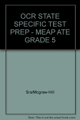 9780076002924: OCR State Specific Test Prep: Meap Ate Grade 5