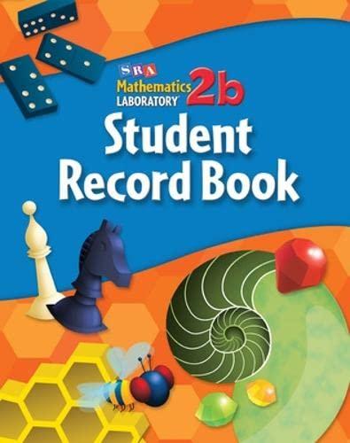 9780076004058: Math Lab 2b, Level 5; Student Record Book (5-pack) (MATH LABS)