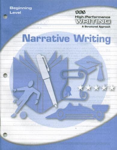 9780076004362: High-Performance Writing - Narrative Writing - Beginning Level
