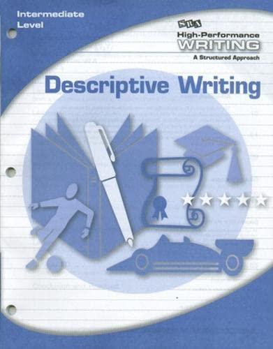 9780076004423: High-Performance Writing - Descriptive Writing - Intermediate Level