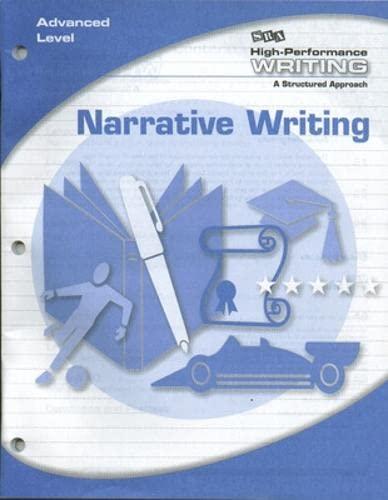9780076004508: High-Performance Writing - Narrative Writing - Advanced Level