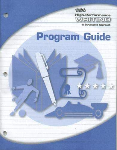 9780076004546: High-Performance Writing Advanced Level, Program Guide (Cursive Writing)
