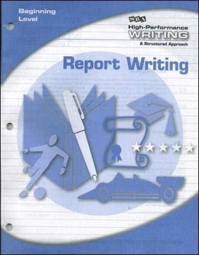 9780076017638: High-Performance Writing - Report Writing - Beginning Level