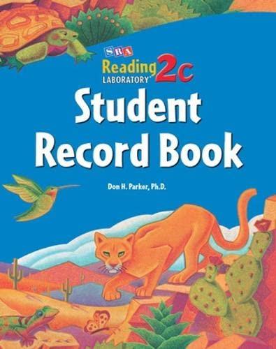 Reading Lab 2c, Student Record Book, Levels: Sra