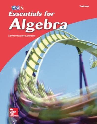 9780076021925: SRA Essentials For Algebra; A Direct Instruction Approach