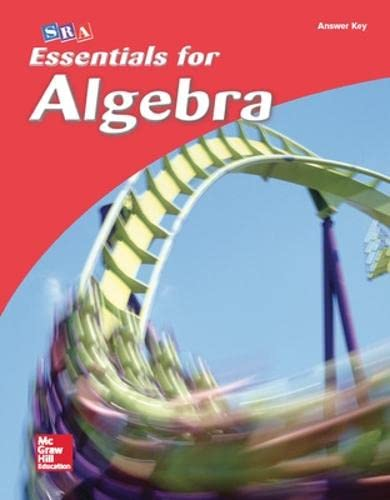 9780076021956: Essentials for Algebra, Answer Key