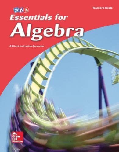 9780076021963: Essentials for Algebra: Teacher's Guide (Remarkable Math)