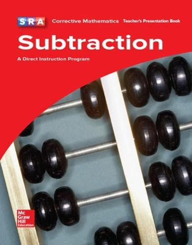 SRA Corrective Mathematics Subtraction, A Direct Instruction